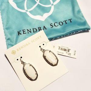 NWT Kendra Scott Dani Drop Earrings Ivory Pearl
